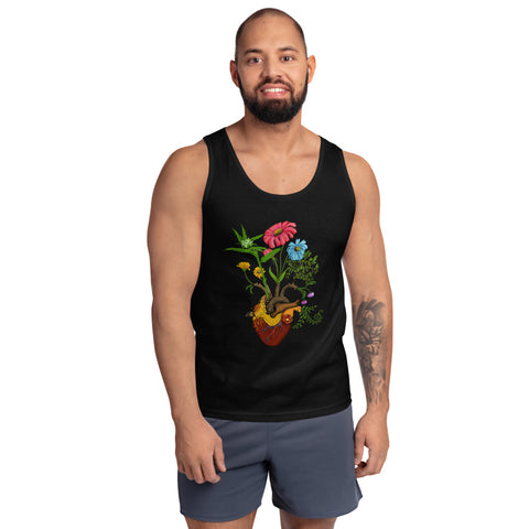 Harvest Peace Grow Love Anatomical Heart Yoga Tank top