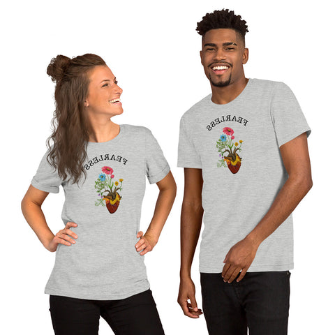 Mirror Mantra Harvest Peace Grow Love FEARLESS Yoga Saying Shirt