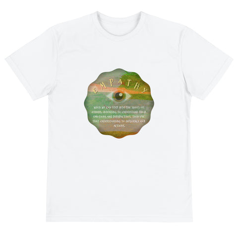 Yoga Saying Empathy Zen Third Eye Organic Cotton Sustainable T-Shirt