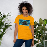 Sunflower and Strength Yoga Pose Short-Sleeve Unisex T-Shirt