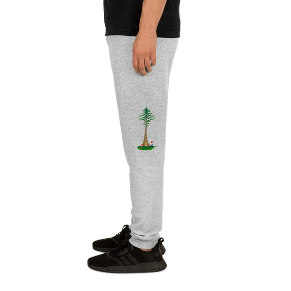 Ohm Aum Gnomie Meditating Douglas Fir in the PNW Unisex Yoga Joggers