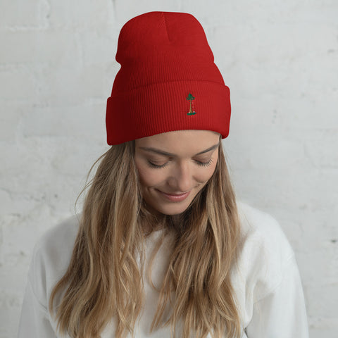 Classic Fit Yoga Ohm Gnomie Gnome Smoking Herb Cuffed Beanie