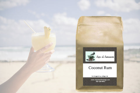 Coconut Rum Flavored Coffee