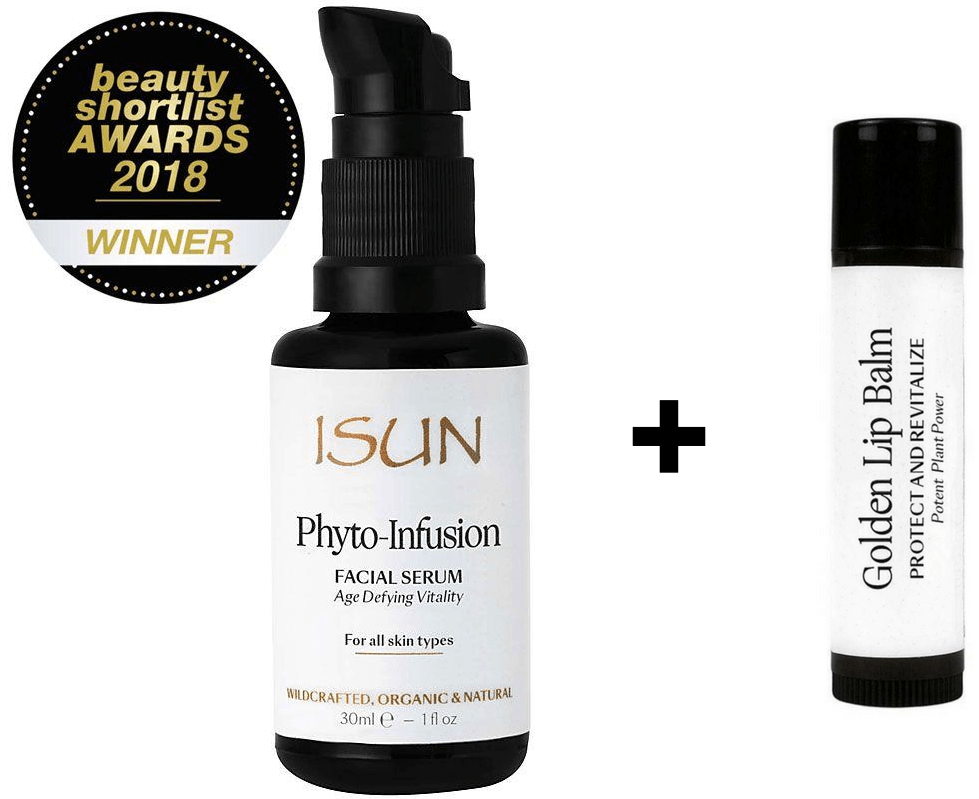 ISUN Phyto Infusion Facial Serum + FREE ISUN Golden Lip Balm