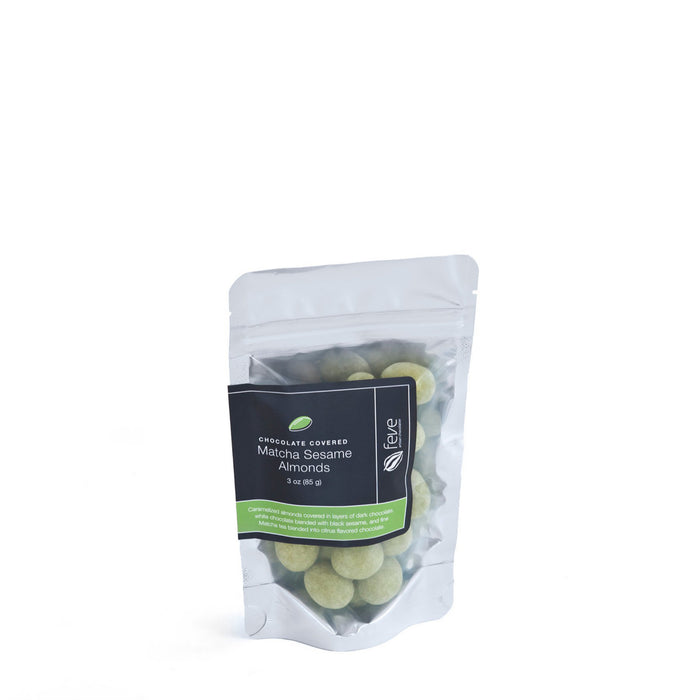 Feve Matcha Sesame Almonds 3 oz
