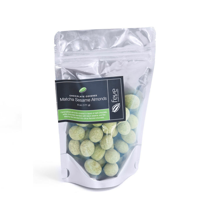 Feve Matcha Sesame Almonds 6 oz