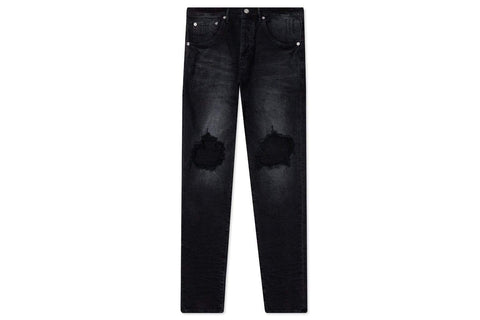 Purple Denim P002 MID RISE WITH TAPERED LEG - BLACK WASH BLOWOUT