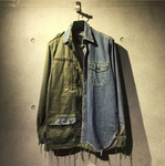 Denim Military Shirt Jacket