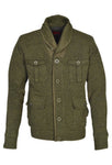 Schott NYC Men's Zip Front Military Style Sweater Jacket