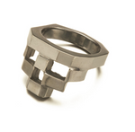 STACKED - RING - OXIDIZED 925 STERLING SILVER