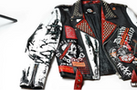 Biker Jacket White and Red