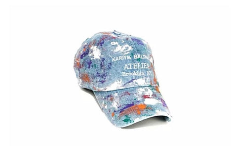 Kariym Baltazar Atelier Denim Splattered Hat