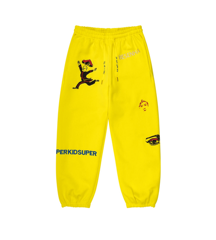 KidSuper Super Sweatpants Yellow