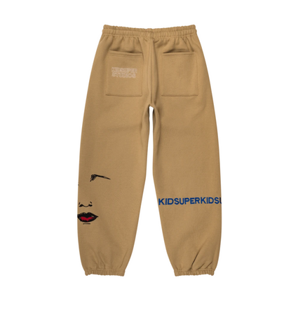 KidSuper Super Sweatpants Tan