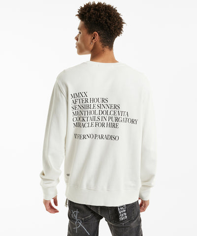 Ksubi After Hours Crew Neck Fleece Bleached