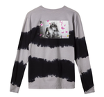 Kei Girls Longsleeve Black Gray Wash Tee Huf