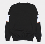 LE FIX SWEATSHIRT OFF CUT PANEL BLACK