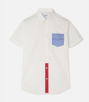 WHITE ODEN BLOCKED SHORT SLEEVES