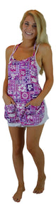 Maui Micro Mitts - Hawaiian Print Apron - Purple