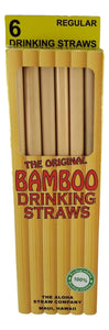 6 PACK BAMBOO STRAW - Smoothie/Boba Tea - 25 cm