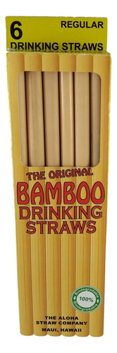 6 PACK BAMBOO STRAW - Smoothie/Boba Tea - 20 cm