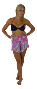 Holoholo - Short Pant with White Lace Trim - Tahitian - Pink