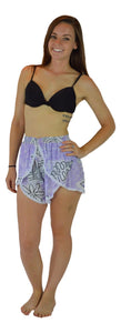 Holoholo - Short Pant with White Lace Trim - Tahitian - Purple