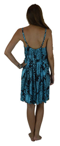 Secret Beach - Bali Dress - Chrysanthemum - Black / Turquoise