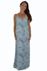 Secret Beach - Bali Dress - Long - Chrysanthemum - Slate