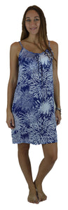 Secret Beach - Bali Dress - Chrysanthemum - Navy / White