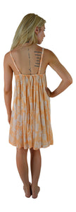Secret Beach - Bali Dress  - Pineapple - Bleached Apricot