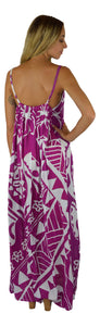 Aloha Royale - Bali Dress - Long - Hawaiian Turtle - Purple