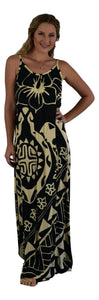 Aloha Royale - Bali Dress Long - Cream/Black