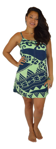 Aloha Royale - Bali Dress - Short - Holoholo - Blueberry and Seaglass
