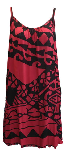 Aloha Royale - Bali Dress - Short - Holoholo - Red and Black