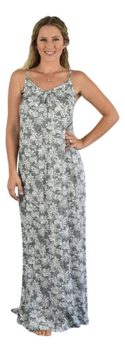 Aloha Royale - Bali Dress Long - Tropicana - Black & White
