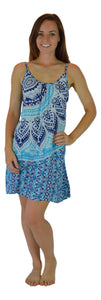 Holoholo - Bali Dress  - Mandala - Navy - Short