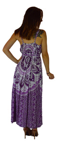 Holoholo - Bali Dress  - Mandala - Purple - Long