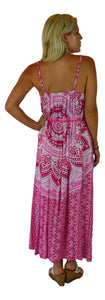 Holoholo - Bali Dress  - Mandala - Pink - Long