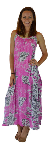 Holoholo - Bali Dress - Long - Tahitian - Pink