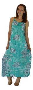 Holoholo - Bali Dress - Long - Tahitian - Turquoise
