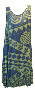 Aloha Royale - Cabana Dress - Holoholo - Seaglass Green & Blueberry