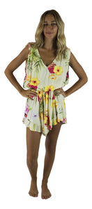 Secret Beach - Kona Romper - Hibiscus Pineapple - Yellow
