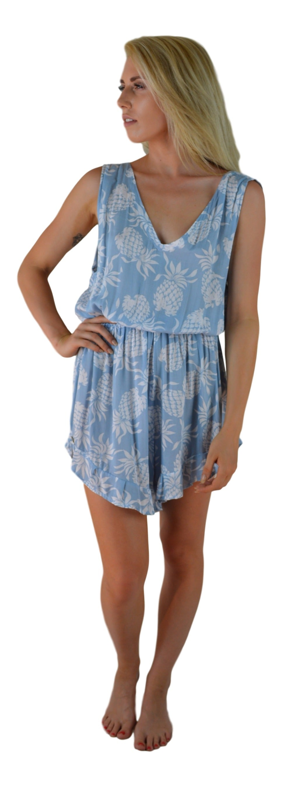 Secret Beach - Kona Romper - Pineapple - Ballad Blue