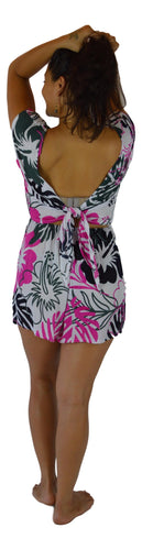 Holoholo - Reversible Romper - Paradise Hibiscus - Pink