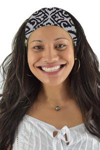 Headband Scrunchie Set - Ikat - Black