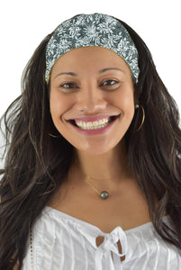 Headband Scrunchie Set - Tropicana - Black and White