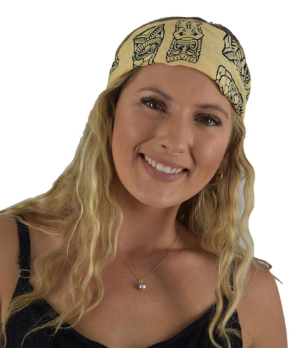 Headband Scrunchie Set - Tiki - Cream and Black