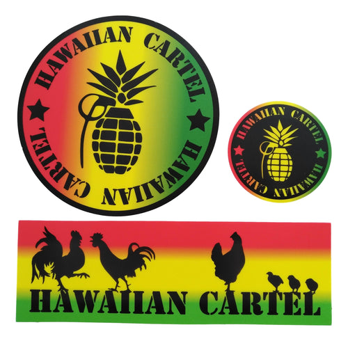 Sticker Pack - Hawaiian Cartel Rasta 1 each