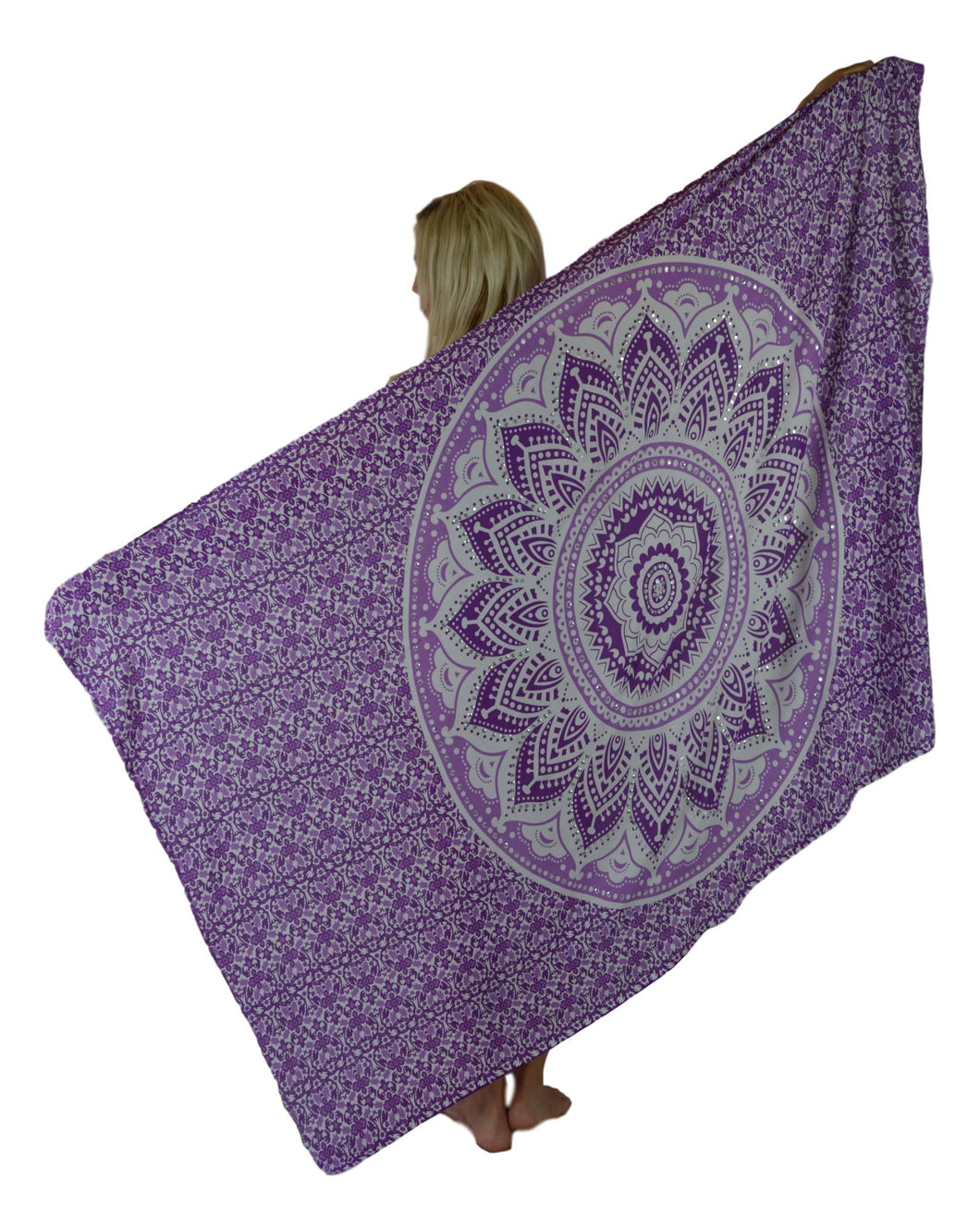 Holoholo - Mandala Sarong with Sequins - Purple